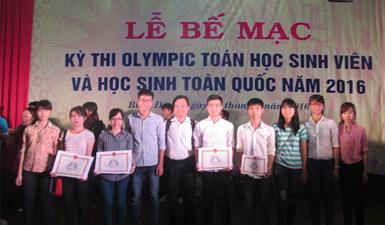 Sinh viên đoạt giải Olympic Toán học Quốc gia